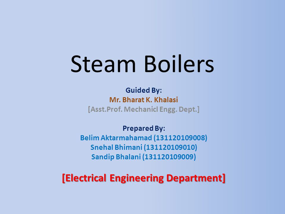 [Asst.Prof. Mechanicl Engg. Dept.] [Electrical Engineering Department]
